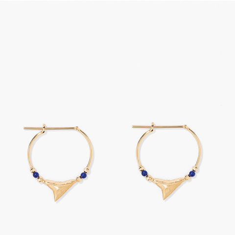 Shark hood Earrings - Lapis