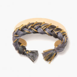 Copacabana Bracelet - Charcoal / Yellow gold