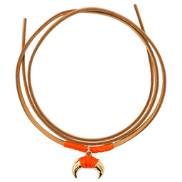 Takayama Gold Baby Horn Necklace - Orange / Yellow gold