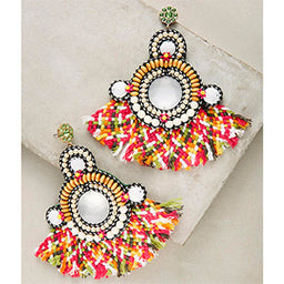 Boho Earrings - Red