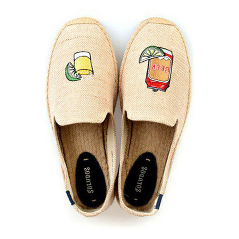 Beer & Shot - Espadrilles - Cream