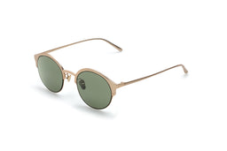 Capri II Sunglasses - Matt Gold - Classic Green lenses