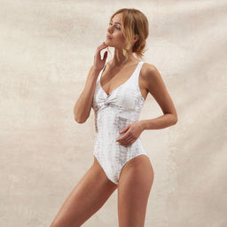 Core - Alhambra - Textured Twist One Piece - Snake Print