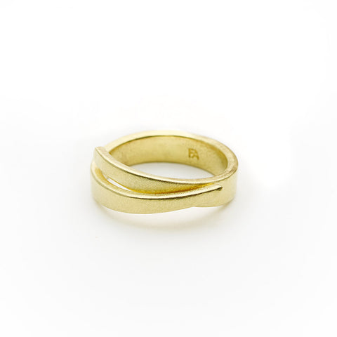 Viiva I Ring - Brass