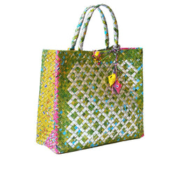 Diamond Tetra Bag - Green - Large
