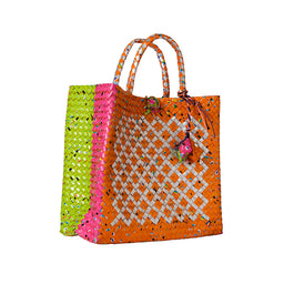 Diamond Tetra Bag - Orange - Medium