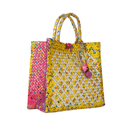 Diamond Tetra Bag - Yellow - Medium