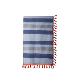 Inabel travel Blanket - Denim blue