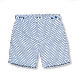 Tailored Swim Shorts - Bat Long - Slate / Blue