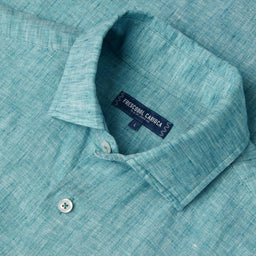 Linen Shirt - Regular Fit - Coconut Green