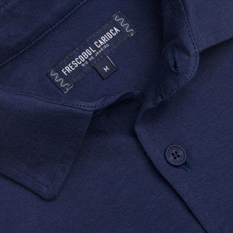 Jersey Polo Shirt - Navy Blue