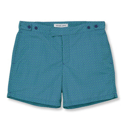 Tailored Swim Shorts - Angra - Mint Green / Slate Blue