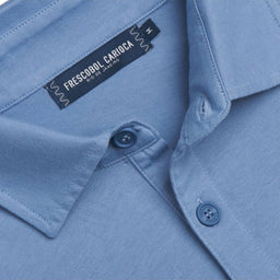 Jersey Polo Shirt - Slate Blue