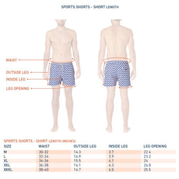 Sport Swim Shorts - Short Leg - Aquarela - Navy / Pool Blue