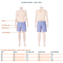 Tailored Swim Shorts - Angra - Blue / Navy Blue