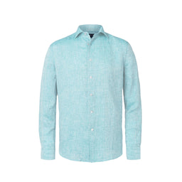 Linen Shirt - Regular Fit - Aqua