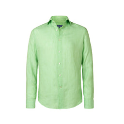 Linen Shirt - Regular Fit - Green