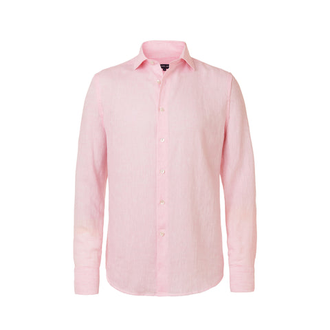Linen Shirt - Regular Fit - Pink