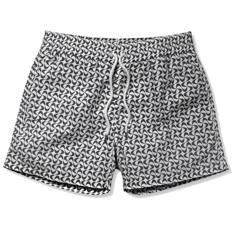 Sports Swim Shorts - Short Leg - Floripa - Black / White