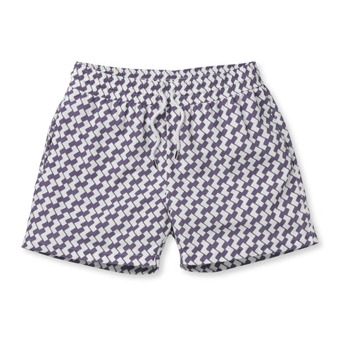 Sport Swim Shorts - Leme - Lilac / White