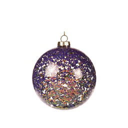 Bauble - Purple/Pink glitter