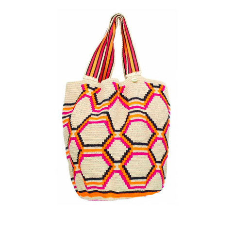 Tote Wayuu Bag - Bordeaux
