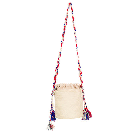 Bombonera Bag - Handles Red/Blue/Grey/Beige