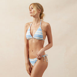 Gili Island - Scallop Tie Side Bottom - Print
