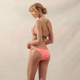 BB Reversible - Side String Bottom - Coral/Taupe