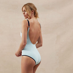 BB Reversible - V One Piece - Light Blue/Black