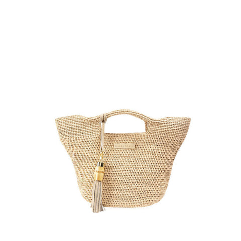 Grace Bay - Super Mini Raffia Bucket Bag - Natural