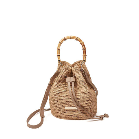 Savannah Bay - Bamboo Duffle Super Mini Bag - Natural
