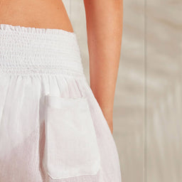 Seychelles - Smocked Shorts - White