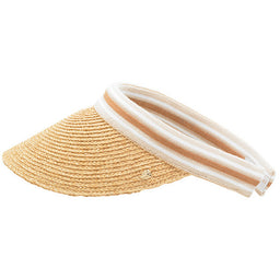 Bianca Visor - Natural / Black Stripe