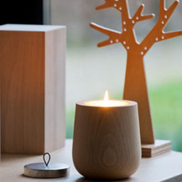 Wooden scented candle - Fig tree
