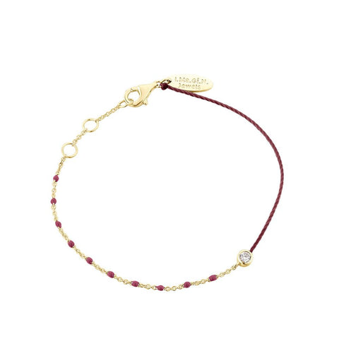 Bracelets - Enamel Duo - Burgundy / Yellow Gold