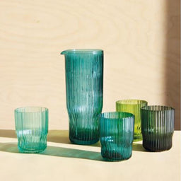 Riffle - Glass - Blue Green