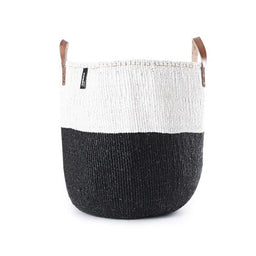 Kiondo Basket with Handles - 50/50 - Black / White