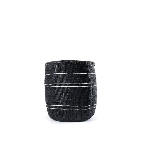 Kiondo Basket - 5 stripes - Black / White