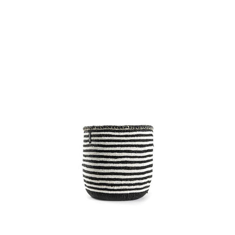 Kiondo Basket - Thin stripes - Black / White