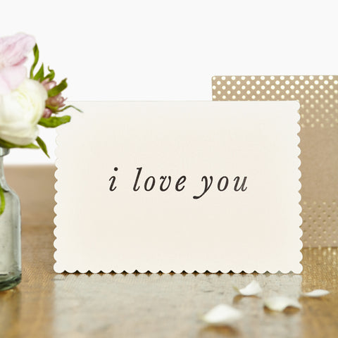 "Greeting Card - ""I Love You"""