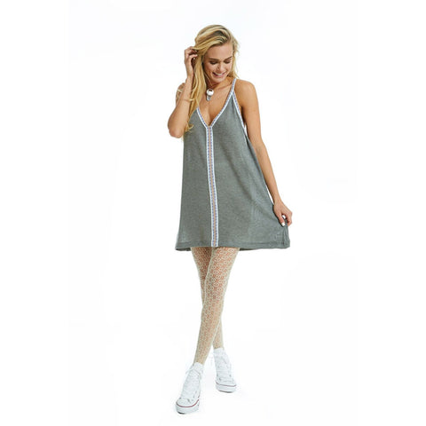 Knit Mini Sundress - Grey