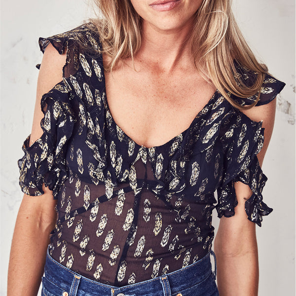 bb0ebe8b53ffd3 Imogen - Top - Royale Silk Chiffon - Navy – Edit Lifestyle