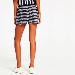 Edna Shorts Embroidered - Navy