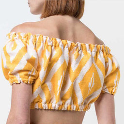 Biruhi Cropped Blouse - Yellow