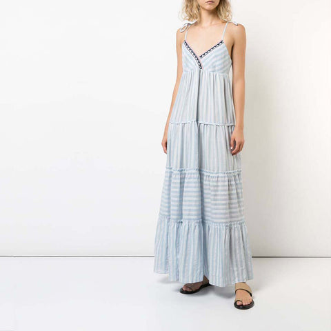 Nefasi Empire Dress - Sky Blue