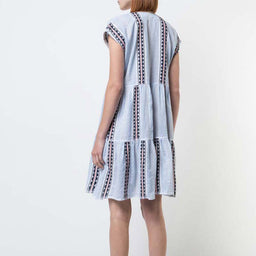 Riban Short Dress - Light Blue