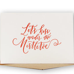 Greeting card - Let's Kiss under the Mistletoe