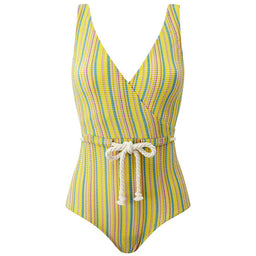 Yasmin Drawstring Maillot - Seersucker - Striped