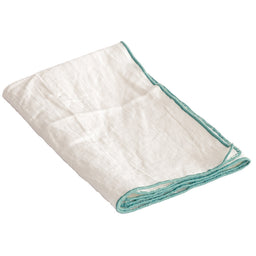 Table Napkins - White / Aqua